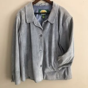 CABELA'S Gray Genuine Leather Coat Jacket - XL